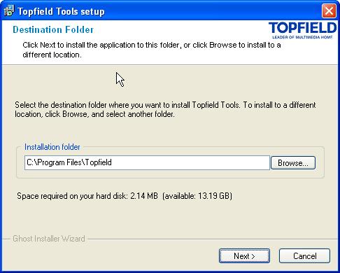 Topfield firmware upgrade.