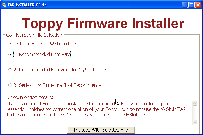 Topfield tf 7700 hd pvr firmware download.